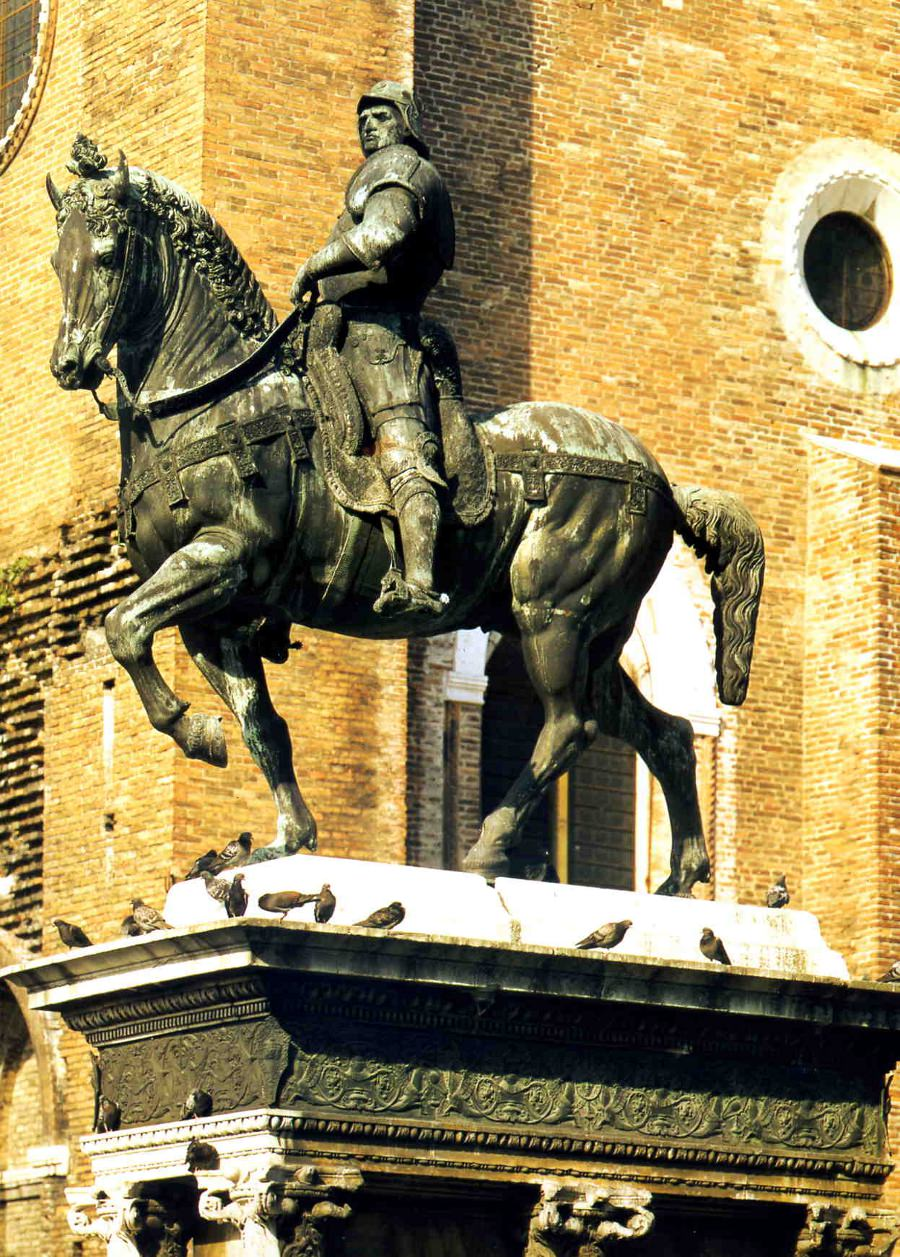 Andrea del Verrocchio's statue of Bartolomeo Colleoni.