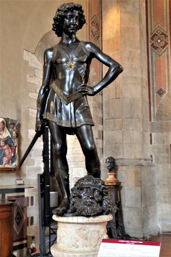 Andrea del Verrocchio's statue of David, Bargello, Florence, Italy.