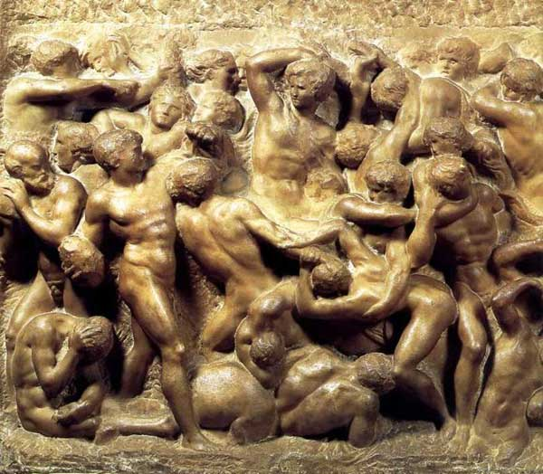 Michelangelo's Battle of the Centaurs