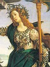 Athene and the Centaur (detail) Sandro Botticelli