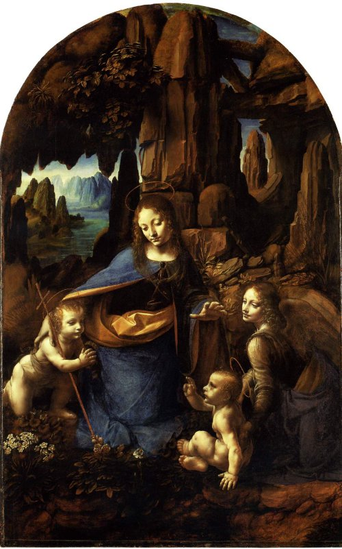 The Virgin of the Rocks, London Version. Leonardo da Vinci. c. 1495-1508