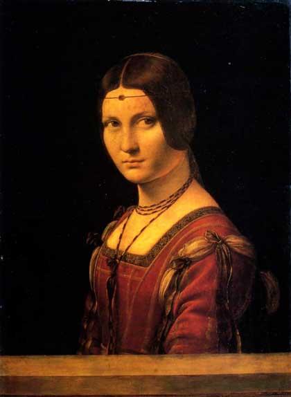 La Belle Feronniere by Leonardo DaVinci, c. 1495