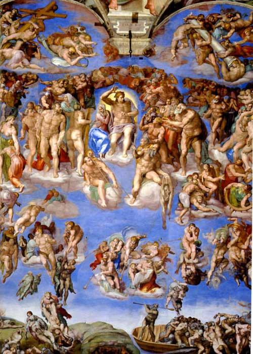 Michelangelo Sistine Chapel Last Judgment. The Last Judgement by