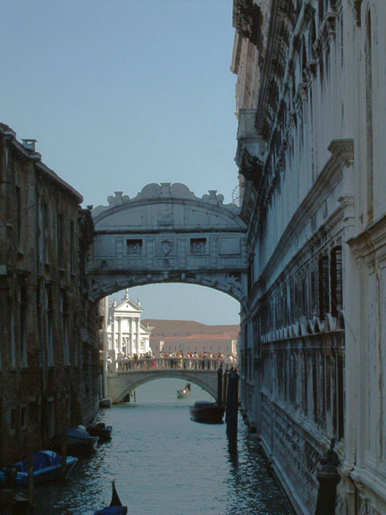 The Bridge of Sighs, Venice.