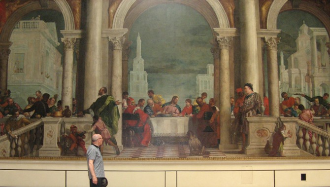 Feast in the House of Levi (giving an idea of scale) Veronese