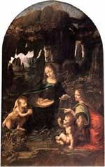 Leonardo's Virgin of the Rocks, Paris