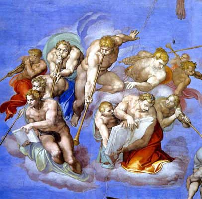 Angels Trumpet, from The Last Judgement, Sistine Chapel