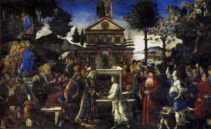 Botticelli, The Temptation of Christ
