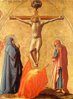 309 x 419 Crucifixion by Masaccio