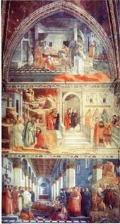 Frescoes at Prato Cathedral