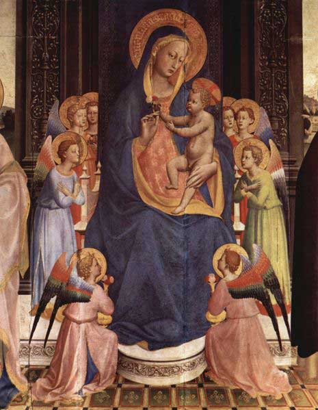 Virgin and Child with Saints, Fra Angelico
