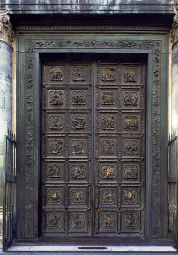 Baptistery of Florence (north door)