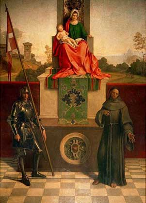 Madonna and saints by Giorgione