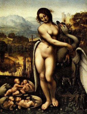 Leda and the Swan, c. 1505/10. Oil on wood, 69.5x73.7 cm, Wilton House Collection, England.