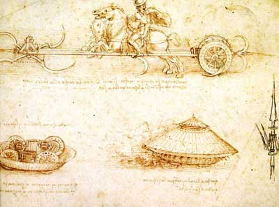 Armoured vehicle by Leonardo da Vinci