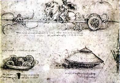 Leonardo da Vinci sketch for an armoured vehicle.