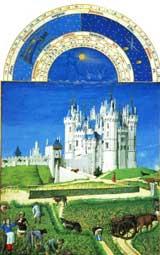 Limbourg Brothers, September. Illuminated Manuscript