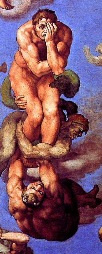 Michelangelo's famous Damned Man.