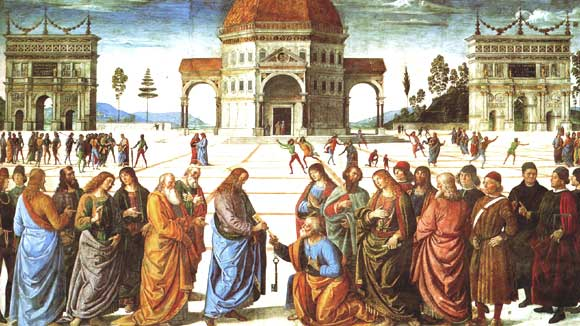 Charge to Peter, Perugino