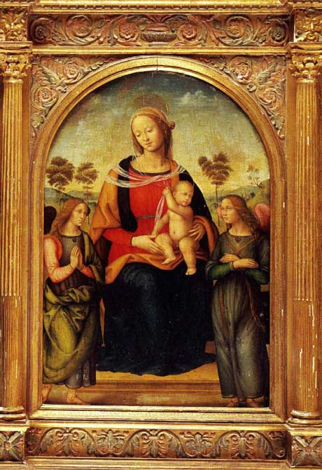 Madonna and Child with two Angels by Perugino