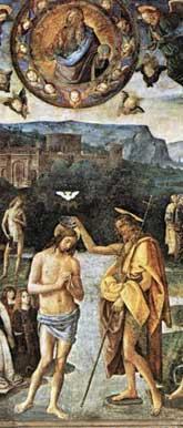 Baptism of Christ, Perugino
