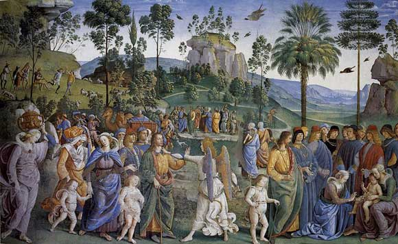 Moses Leaving to Egypt, Perugino
