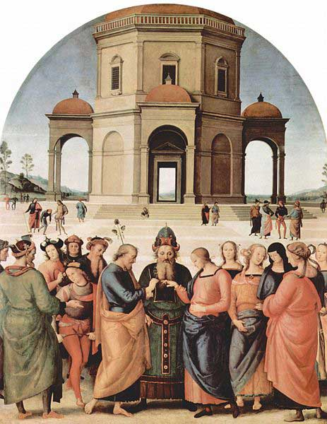 Marriage of the Virgin by Perugino