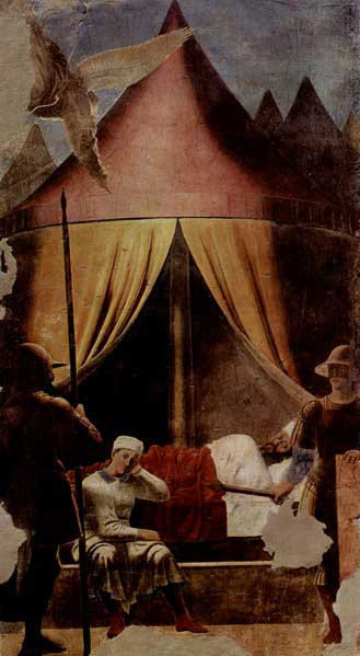 The Dream of Constantine by Piero della Francesca