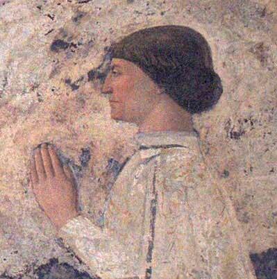 Sigismondo Pandolfo Malatesta Praying, by Piero della Francesca