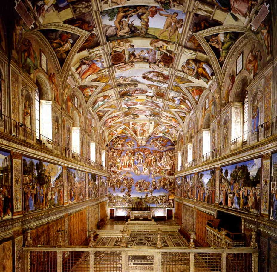 View of the Sistine Chapel.
