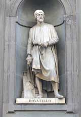Statue of Donatello, outside the Uffizi