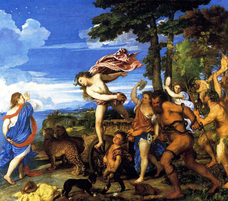 Bacchus and Ariadne a mythological work by Titian