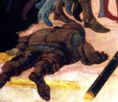 foreshortened soldier by Paolo Uccello
