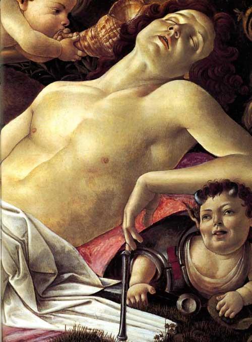Venus and Mars (detail) Sandro Botticelli