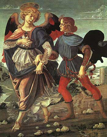 Tobias and the Angel by Andrea del Verrocchio