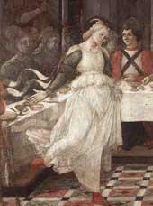 Salome Dancing (detail) by Fra Filippo Lippi
