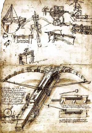 Giant crossbow by Leonardo da Vinci