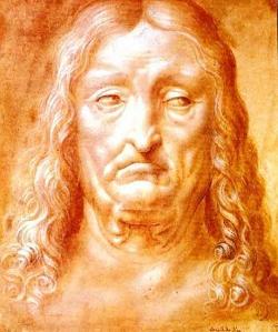 Leonardo mans head