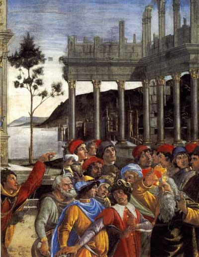 Punishment of Korah (detail)