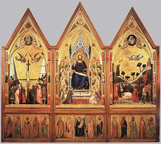 The Stefaneschi Polypych by Giotto. 550x490