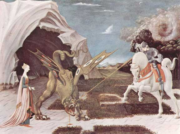 St George and the Dragon by Paolo Uccello